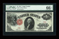 Large Size:Legal Tender Notes, Fr. 37 $1 1917 Legal Tender PMG Gem Uncirculated 66 EPQ....