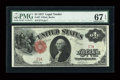 Large Size:Legal Tender Notes, Fr. 37 $1 1917 Legal Tender PMG Superb Gem Unc 67 EPQ....