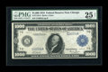 Large Size:Federal Reserve Notes, Fr. 1133-G $1000 1918 Federal Reserve Note PMG Very Fine 25 Net....