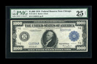 Fr. 1133-G $1000 1918 Federal Reserve Note PMG Very Fine 25 Net