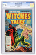 Golden Age (1938-1955):Horror, Witches Tales #10 File Copy (Harvey, 1952) CGC FN/VF 7.0 Light tanto off-white pages....