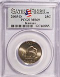 Statehood Quarters, 2005-D 25C Kansas Satin Finish MS69 PCGS. PCGS Population (210/0). (#914041)...