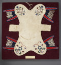 American Indian Art:Beadwork and Quillwork, A RED RIVER METIS BEADED HIDE PAD SADDLE. c. 1850...