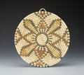 American Indian Art:Baskets, A HOPI POLYCHROME BUNDLE COILED PLAQUE. c. 1950...