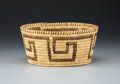 American Indian Art:Baskets, A PAPAGO COILED BASKET. c. 1930...
