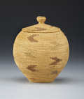 American Indian Art:Baskets, AN ESKIMO COILED BASKET. c. 1900...