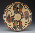 American Indian Art:Pottery, A SAN ILDEFONSO POLYCHROME PLATE. Maria and Julian Martinez. c.1935...