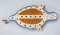 American Indian Art:Beadwork and Quillwork, A SIOUX BEADED HIDE UMBILICAL FETISH. c. 1920...