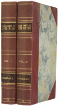 Books, George Wilkins Kendall. Narrative of the Texan Santa FéExpedition, Comprising a Description of A Tour ThroughTex... (Total: 2 Items)