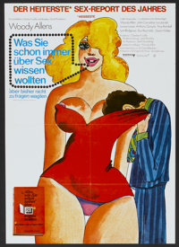 """Everything You Always Wanted to Know About Sex, But Were Afraid to Ask (United Artists, 1972). German A1 (23"""" X 33&..."""