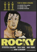 "Movie Posters:Sports, Rocky (Kinematografi Zagreb, R-1970s). Yugoslavian Poster (18.75"" X 27"") Academy Awards Style. Sports...."
