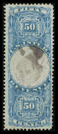 Stamps, 50c Blue & Black, Inverted Center (R115b),...