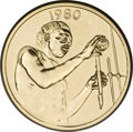 West African States, West African States: Republic gold Essai 25 Francs 1980,...