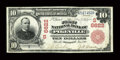 National Bank Notes:Kentucky, Pikeville, KY - $10 1902 Red Seal Fr. 613 The First NB Ch. #(S)6622. ...