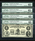 Obsoletes By State:Louisiana, New Orleans, LA- Citizens' Bank of Louisiana $1 18__. ... (Total: 4 notes)