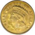 Three Dollar Gold Pieces, 1888 $3 MS66 PCGS....