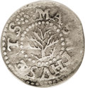 1652 3PENCE Oak Tree Threepence--Tooled--NCS. VF Details....(PCGS# 18)
