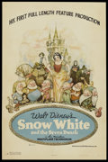 "Movie Posters:Animated, Snow White and the Seven Dwarfs (RKO, 1937). One Sheet (27"" X 41"") Style B. Animated...."
