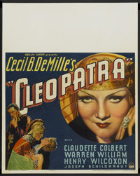 "Cleopatra (Paramount, 1934). Jumbo Window Card (22"" X 28""). Historical Drama"