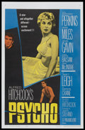 "Movie Posters:Hitchcock, Psycho (Paramount, 1960). One Sheet (27"" X 41""). Hitchcock...."