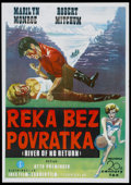 "Movie Posters:Adventure, River of No Return (20th Century Fox, R-1970s). Yugoslavian Poster(30"" X 40""). Adventure...."