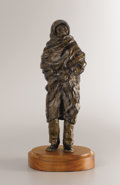 Sculpture, GLENNA GOODACRE (American, b. 1939). Untitled (Figure in Blanket). Bronze with patina. 12-3/4 x 4-3/4 x 3 inches (32.4 x...