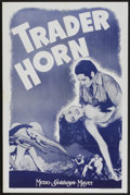 "Movie Posters:Adventure, Trader Horn (MGM, R-1940s). One Sheet (27"" X 41""). Adventure...."