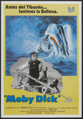 """Movie Posters:Adventure, Moby Dick (Warner Brothers, R-1976). Spanish One Sheet (26.75"""" X37""""). Adventure...."""