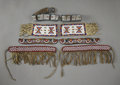 American Indian Art:Beadwork and Quillwork, FOUR PAIRS OF PLAINS BEADED HIDE ARMBANDS AND CUFFS. c. 1900 -1920... (Total: 8 Items)