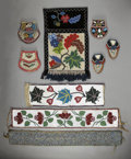 American Indian Art:Beadwork and Quillwork, NINE NORTHERN PLAINS, GREAT LAKES AND IROQUOIS ITEMS. c. 1880 -1900... (Total: 9 Items)