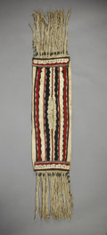 American Indian Art:Beadwork and Quillwork, AN APACHE CHILD'S BEADED CLOTH DOUBLE SADDLE BAG. c. 1900...