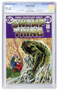 Bronze Age (1970-1979):Horror, Swamp Thing #1 (DC, 1972) CGC NM 9.4 Off-white pages....