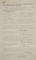 Western Expansion:Cowboy, E. D. Nix Document Signed Regarding a Posse Going After The DoolinGang, 1895....