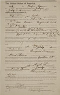 "Autographs:Celebrities, Gunfighter Henry A. ""Heck"" Thomas Document Signed Three Times ""Heck Thomas""..."