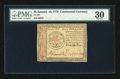 Colonial Notes:Continental Congress Issues, Continental Currency January 14, 1779 $5 PMG Very Fine 30....