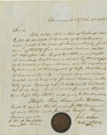 Autographs:Celebrities, Pony Express-Related Letter, Waddell & Russell, SacramentoCity, [California] October 11, 1852....