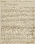 Autographs:Statesmen, [Lorenzo de Zavala] Autograph Letter Signed in Spanish and English,to the son of Zavala regarding the settlement of his fat...
