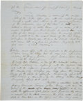 Autographs:Statesmen, [Sam Houston] Contemporary English Translation of a Mexican LandGrant Petition and Title Issued to Sam Houston. Two pages, ...