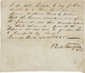 "Autographs:Statesmen, Carl of Solms-Braunfels Letter Signed, ""Charles Prince ofSolms"". One page, 7.5"" x 6.5"", April 25, 1845, ""Carm..."