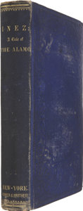 Books, [Augusta Jane Evans Wilson.] Inez; a Tale of the Alamo. NewYork: Harper and Brothers, 1855. First edition....