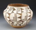 American Indian Art:Pottery, AN ACOMA POLYCHROME JAR. c. 1940...