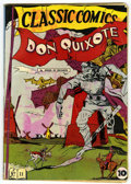Golden Age (1938-1955):Classics Illustrated, Classic Comics #11 Don Quixote - Original Edition (Gilberton, 1943) Condition: GD+....