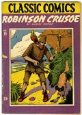 Golden Age (1938-1955):Classics Illustrated, Classic Comics #10 Robinson Crusoe - Original Edition (Gilberton,1943) Condition: GD+....
