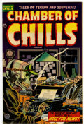 Golden Age (1938-1955):Horror, Chamber of Chills #21 (Harvey, 1954) Condition: FN/VF....