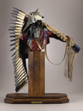 Sculpture, DAVE MCGARY (American, b. 1958). Not Afraid of Pawnee, 1996. Bronze with patina and paint. 24 x 21 x 10-1/2 inches (61.0...