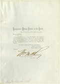 Autographs:Military Figures, Indian Wars Fighter George Crook Ordered to Arizona by Headquarters Military Division of The Pacific, 1871....