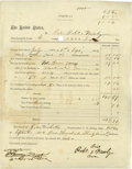 Western Expansion:Buffalo Soldiers, Indian Wars Buffalo Soldier Discharge Document, 1874....