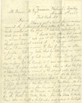 """Miscellaneous:Ephemera, Fantastic Four-Page Indian Wars Letter, from Martin Pung, Co. """"D"""",3rd Artillery, Fighting Indians, Cascades, Washington T..."""