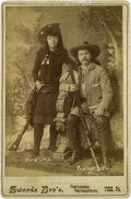Photography:Cabinet Photos, Wild West Photo of Gordon Lillie (Pawnee Bill) & May Lillie,circa 1890s....