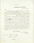 Military & Patriotic:Indian Wars, Cherokee Indian War [Trail of Tears] Pension Document, 1855....